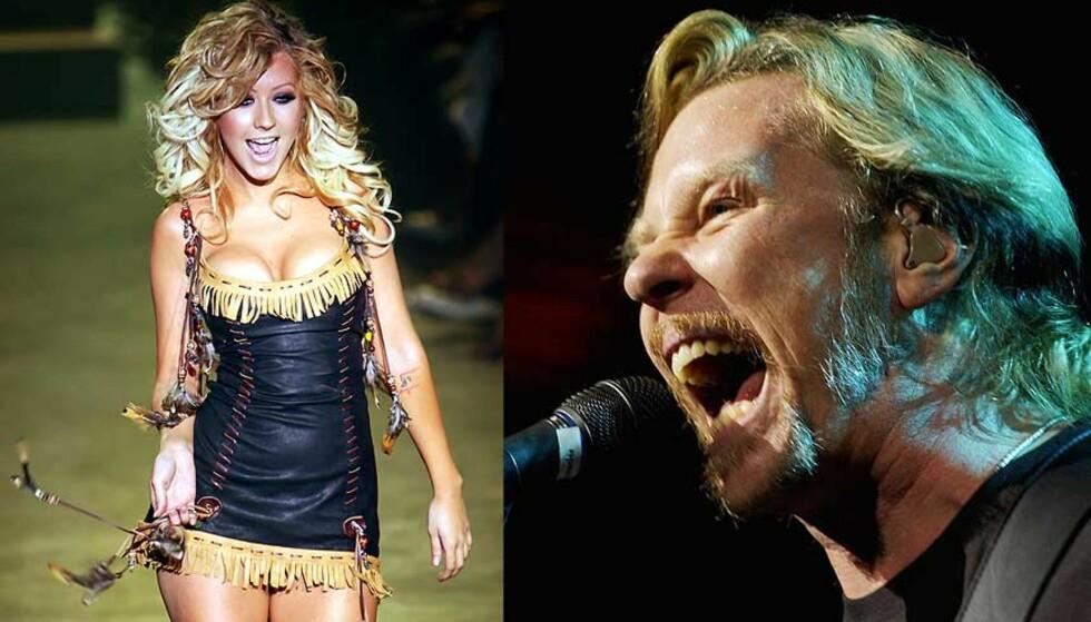 TORTURMUSIKK:  Christina Aguilera og Metallica brukes mot fangene. Foto: SCANPIX