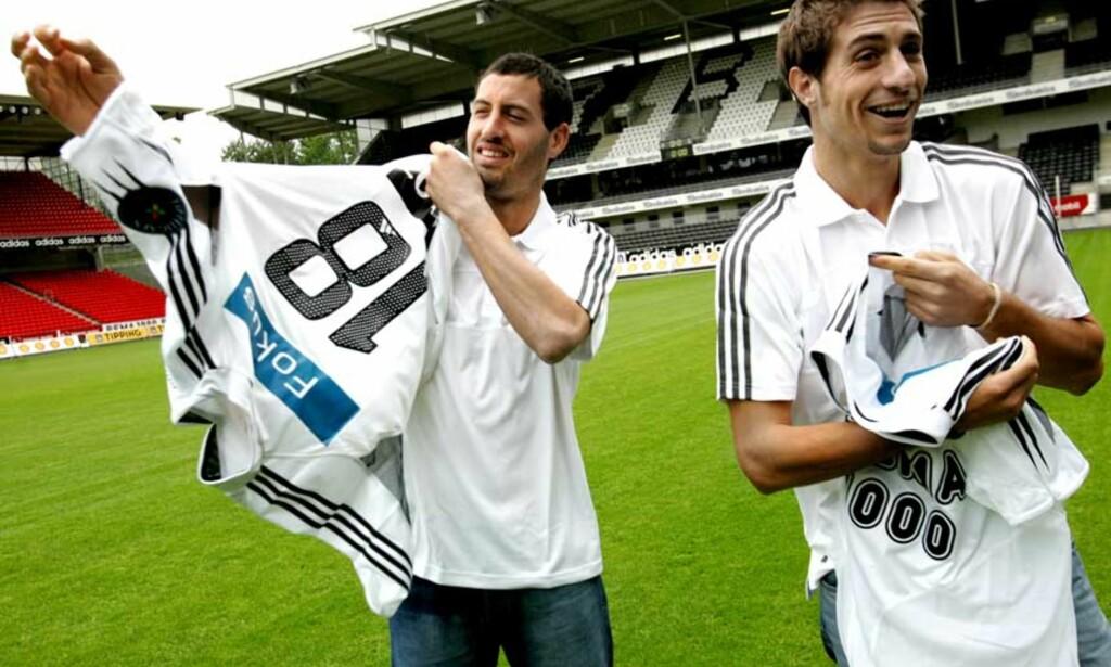 BYTTER KLUBB: Sebastian Eguren og Alejandro Lago blir røde ut sesongen. Her ved signeringen i 2005. Foto: Scanpix