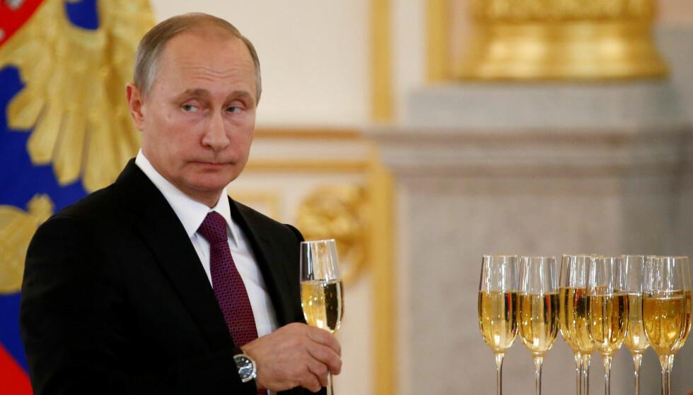 PRESIDENT: Vladimir Putin, Russlands president. CIA sier at det er russiske hackere forstyrret valget i USA. Foto: Reuters / NTB Scanpix