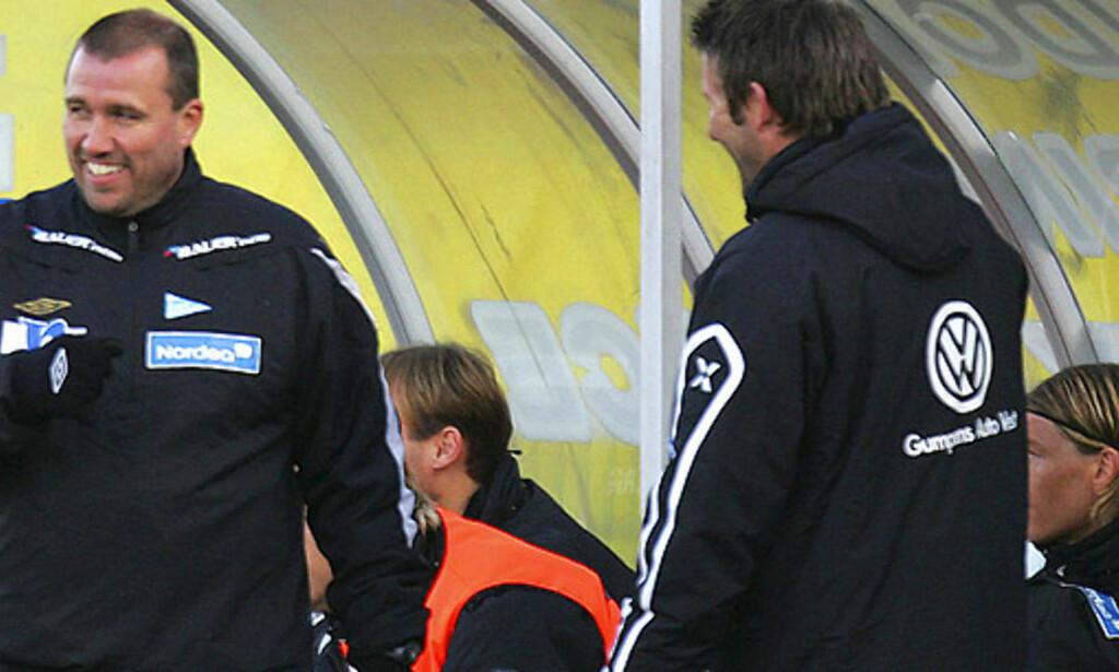 RBK IKKE FAVORITTER: Tom Nordlie ergrer seg over at Rosenborg tippes som seriemestere, når Per-Mathias Høgmo og trønderne var langt unna gullstriden i fjor. Foto: Scanpix