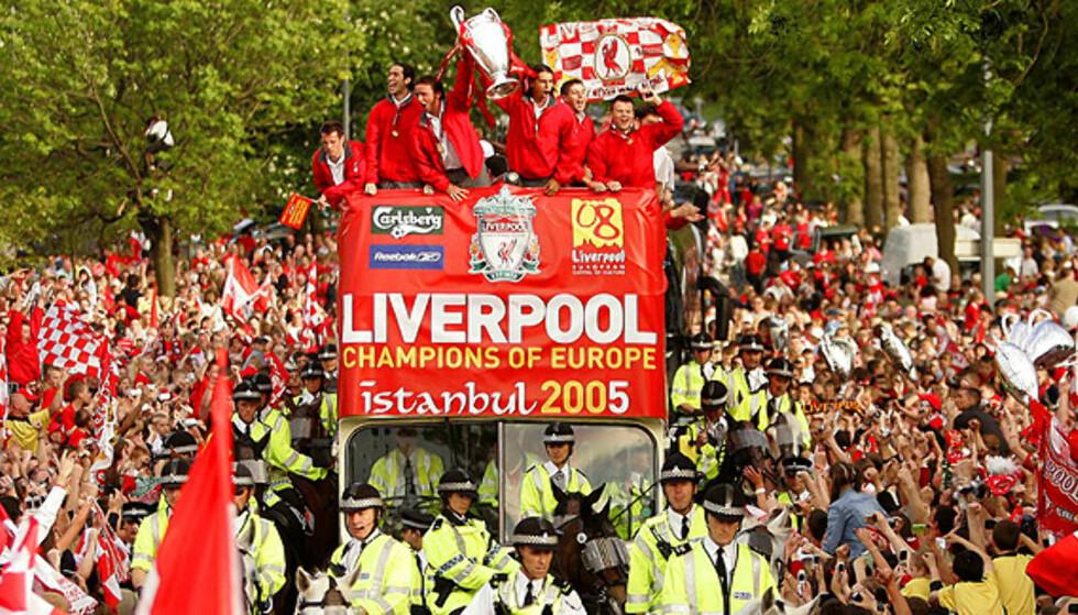 <strong><b>EUROPEISKE MESTERE:</strong></b> Liverpool vant Champions League i fjor, og ligger nå på 3. plass i Premier League. Foto: AP