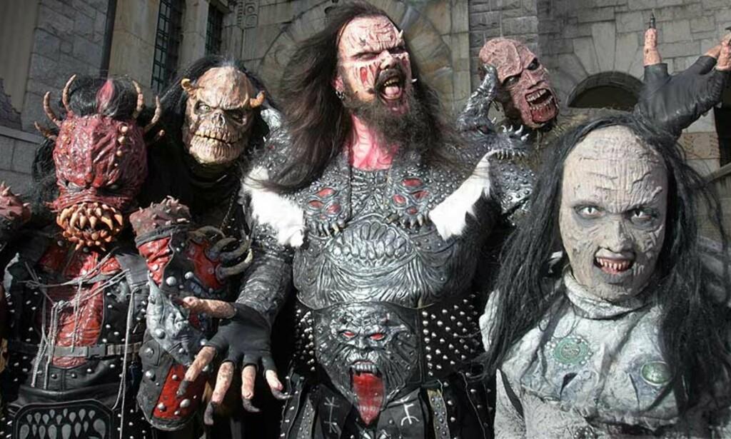 HEIA, HEIA, HEIA: Lordi er monsterrockerne som virkelig ønsker å gjøre noe med Melodi   Grand Prix. De fortjener å gå videre til finalen med sitt groteske rocksirkus, mener vår anmelder, som synes finnene er blant de beste i år. Alle foto: Scanpix, EBU