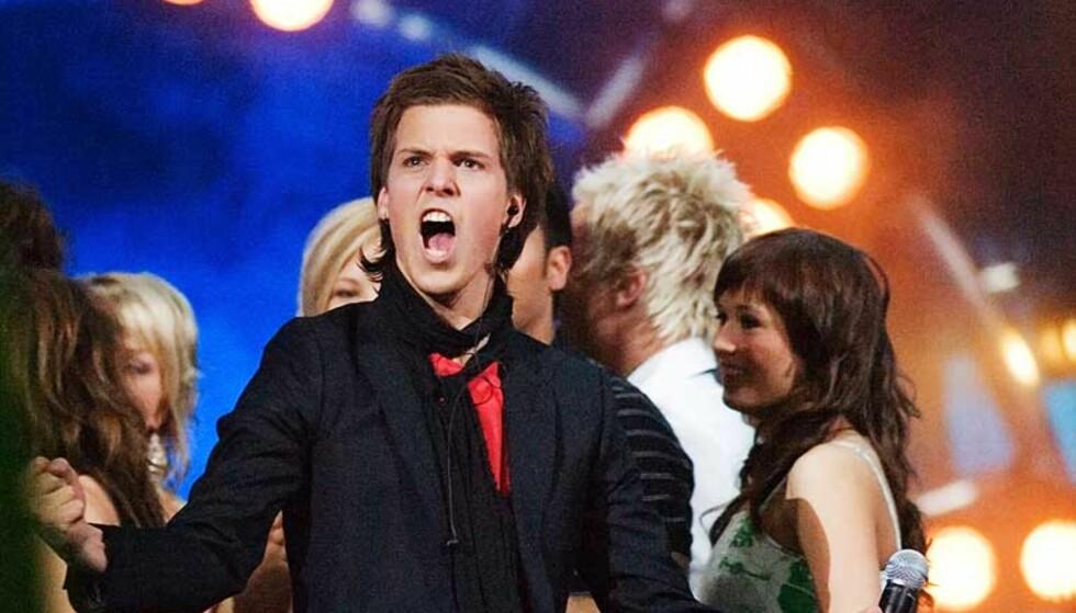 JAAAA! Vinneren av Idol 2006 heter aleksander Denstad With. Foto: Eirik Helland Urke.