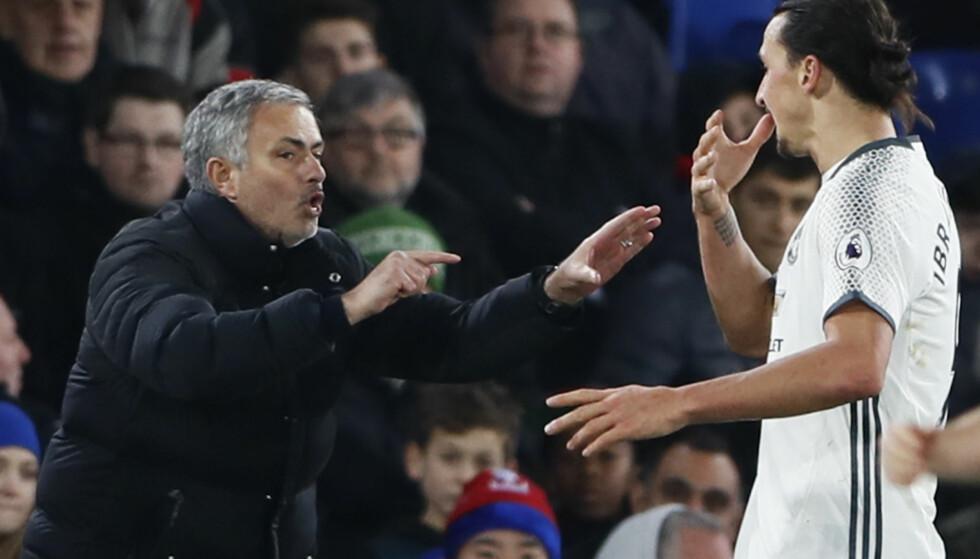 2-1: Zlatan Ibrahimovic sikret seieren for Manchester United i sluttminuttene. Foto: Reuters / Stefan Wermuth Livepic / NTB Scanpix