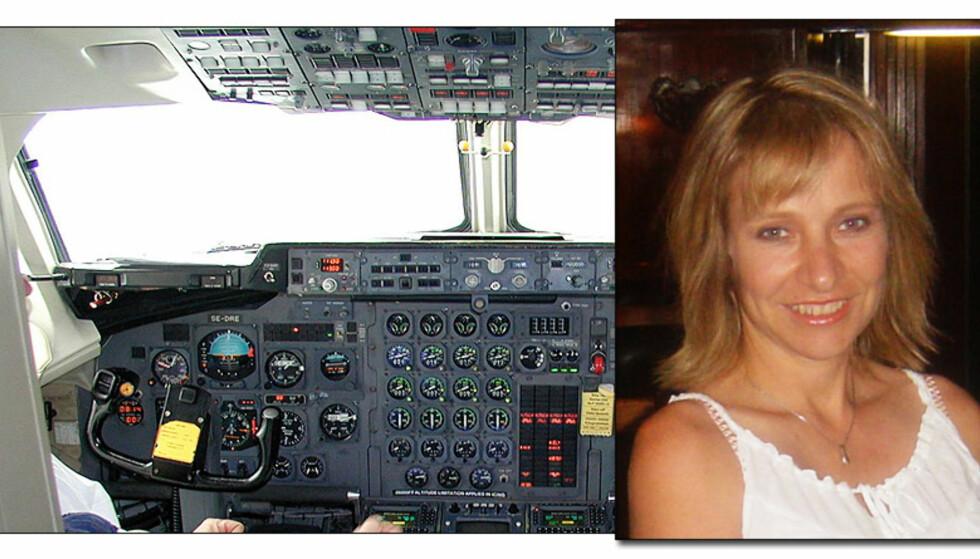 BAe 146: Flytypen BAe 146 har store problemer med forurenset luft i kabin og cockpit. Susan Michaelis (43) fløy denne flytypen, og har nå skader hun mener skyldes gifteksponering i fly. Foto: HAVARIKOMMISJONEN I SVERIGE/PRIVAT