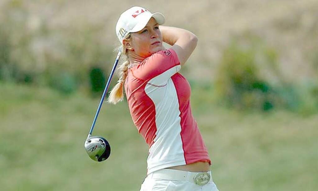 PÅ PAR: Det gir Suzann Pettersen foreløpig 28. plass i turneringen i USA. Foto:MARCOS DELGADO/EPA