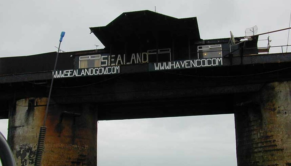 BLIR PIRATREDE?: I over 40 år har prinsen av denne plattformen ment den er en selvstendig stat. Nå skal den selges, og svenskene bak The Pirate Bay vil gjerne kjøpe. Foto: SEALANDGOV.COM