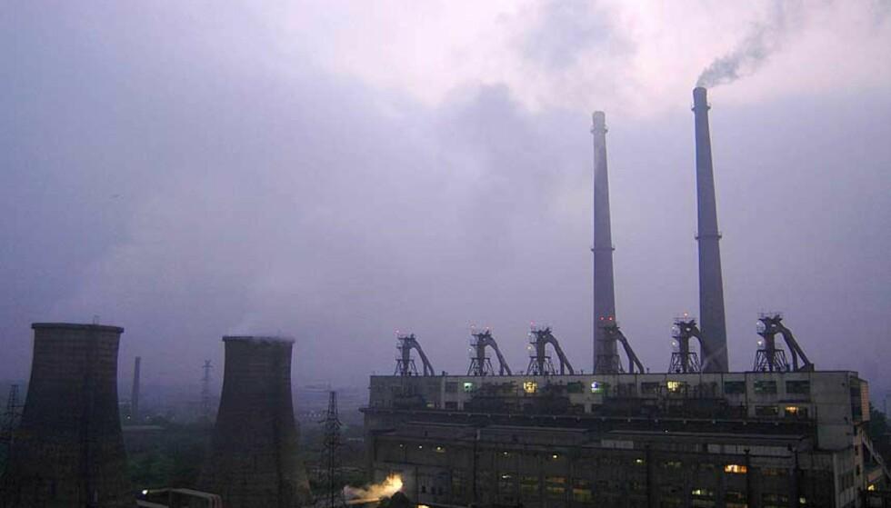 KULLKRAFTVERK: Kina har en nøkkelrolle i å omgjøre verden til en økonomi med minimale karbonutslipp. Foto: Reuters/Scanpix