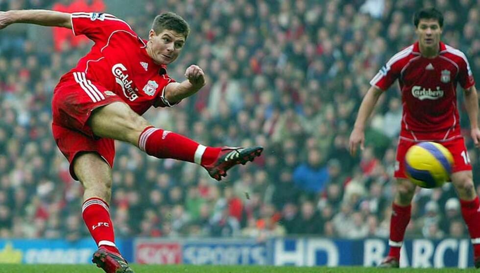 SOLGT: Steven Gerrard og hans Liverpool er kjøpt opp av amerikanerne George Gillett og Tom Hicks. Foto: EPA/Scanpix