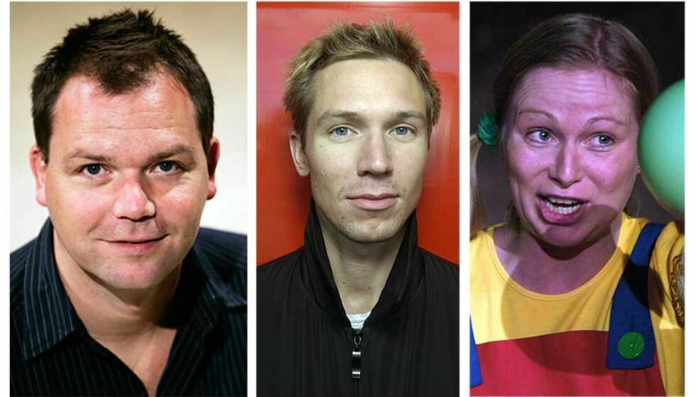 NOMINERT TIL IBSENPRISEN: Dramatikerne Arne Lygre, Christopher Grøndahl og Janne Langaas (her fra en tidligere forestilling). Foto: JØRN H. MOEN / SCANPIX / SCANPIX