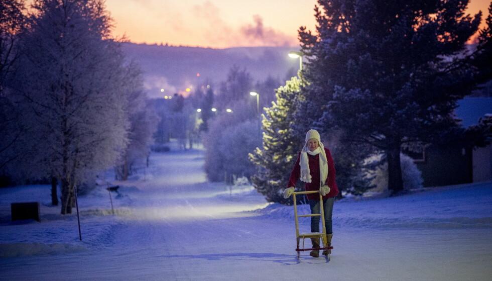 GARANTERT HVIT JUL DER SNØEN ALLEREDE ER: ... men resten av oss kan måtte belage oss på en snøfri jul. Foto: Thomas Rasmus Skaug / Dagbladet
