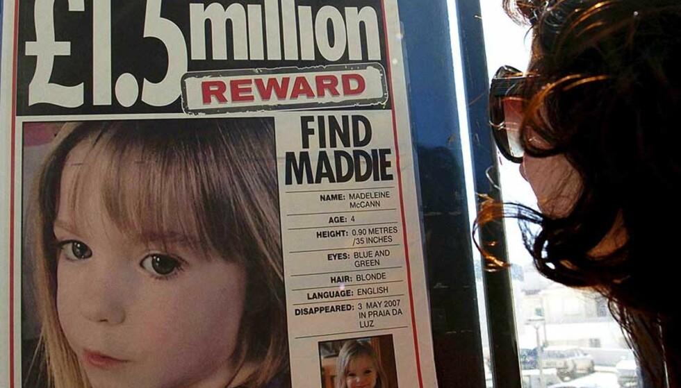 SAVNET: Madeleine McCann har vært borte i to uker. Foto: Scanpix
