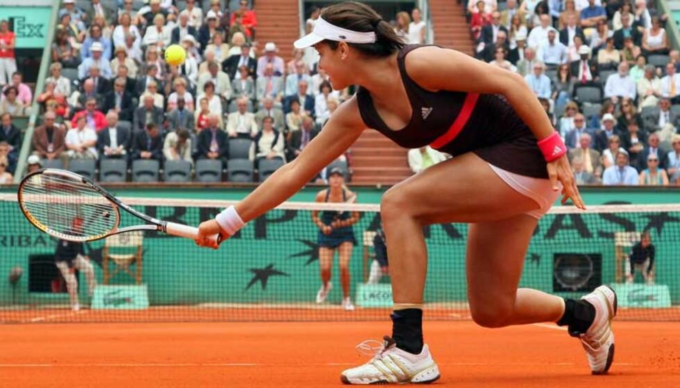 FØRSTE GRAND SLAM-FINALE: Ana Ivanovic knuste Maria Sjarapova i French Open-semifinalen. Foto: AFP