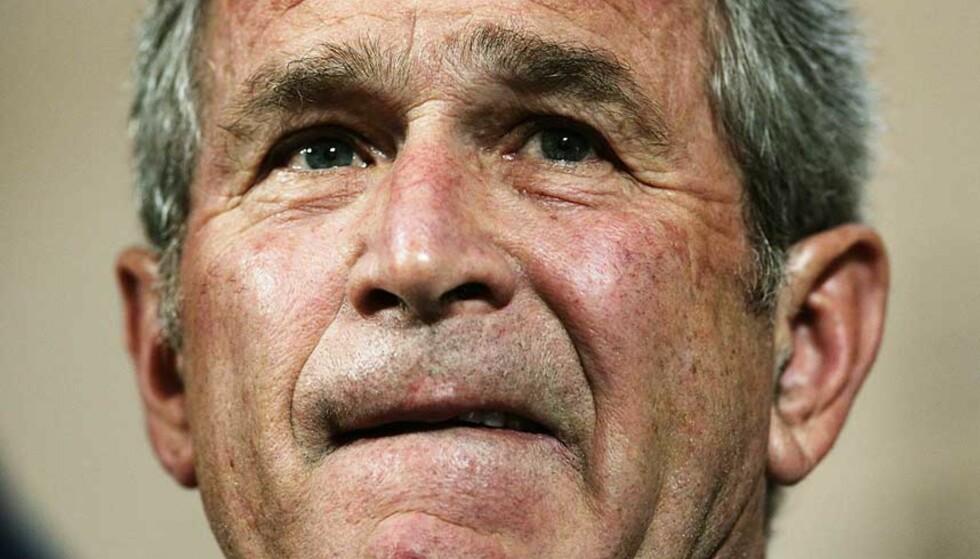 PÅ BÅNN: President George W. Bush. Foto: JIM YOUNG/REUTERS/SCANPIX