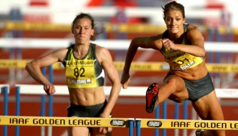 TREDJEPLASS: Christina Vukicevic klarte bare tredjeplass da det virkelig gjalt. Da hadde hun allerede løpt fem hinder etter å ikke ha hørt at resten hadde stoppet for tjuvstart. Foto: EIRIK HELLAND URKE/Dagbladet