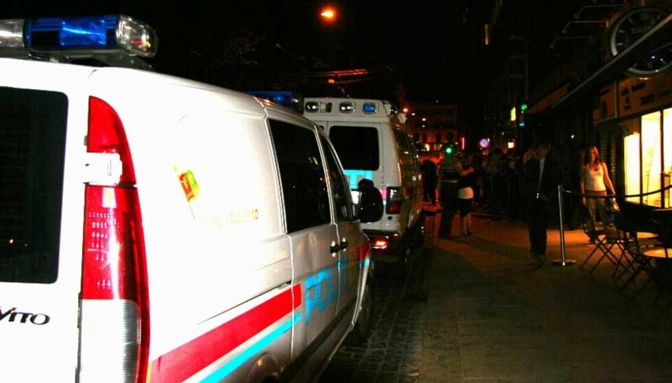 DØRVAKT KNIVSTUKKET: En dørvakt på utestedet Sportscafe i Stortingsgaten i Oslo ble knivstukket i natt. En mann er pågrepet for knivstikkingen.