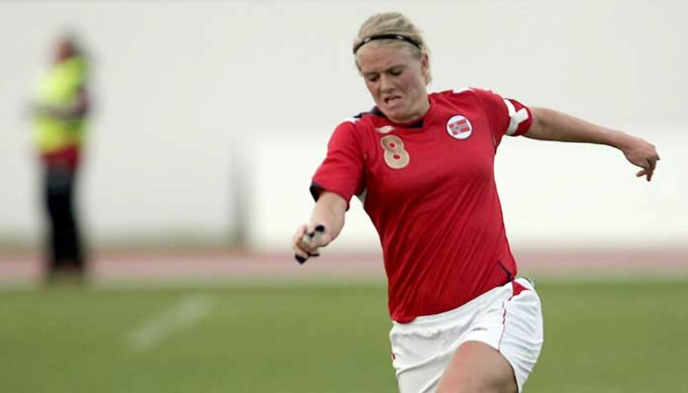 SCORET: Solveig Gulbrandsen scoret Norges andre mål i Tel Aviv. Foto: Gorm Kallestad, Scanpix