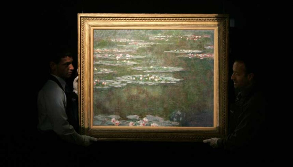 VERDENS DYRESTE VANNLILJER: Torsdag legger auksjonshuset Sotheby\'s ut «Nympheas» av den franske impresjonisten Claude Monet for salg. Foto: REUTERS/SCANPIX