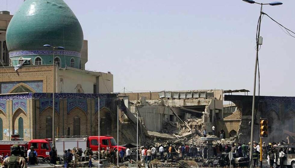 BILBOMBE:  En bilbombe mot en sjiamuslimsk moské tok livet av 75 mennesker.