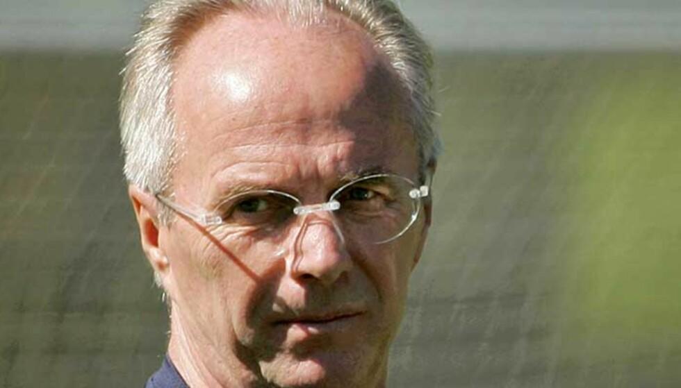TIL ENGLAND: Sven-Göran Eriksson har skrevet under en treårskontrakt med Manchester City. Foto: AP/SCANPIX