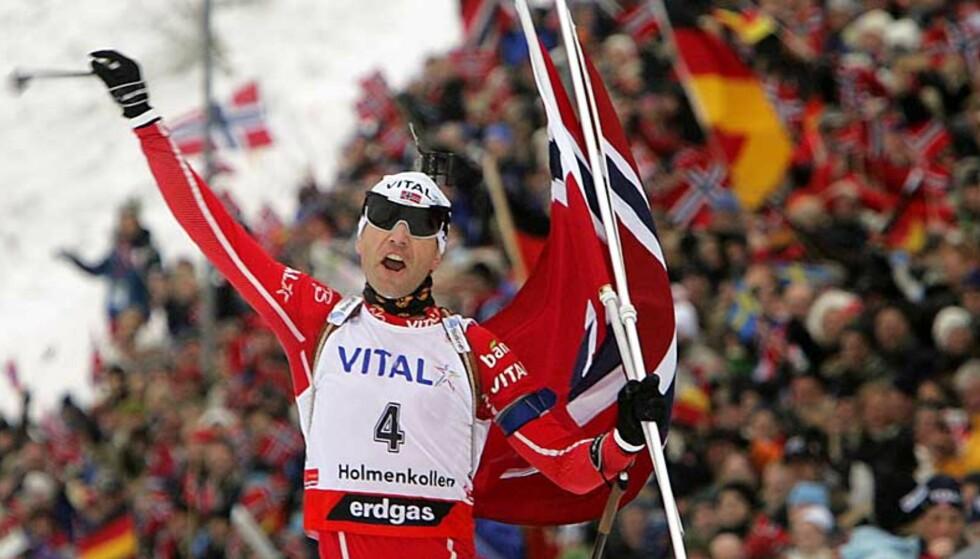 I PUTIN-NØTE: Men Ole Einar Bjørndalen vet ikke hvorfor. Foto: Heiko Junge/SCANPIX