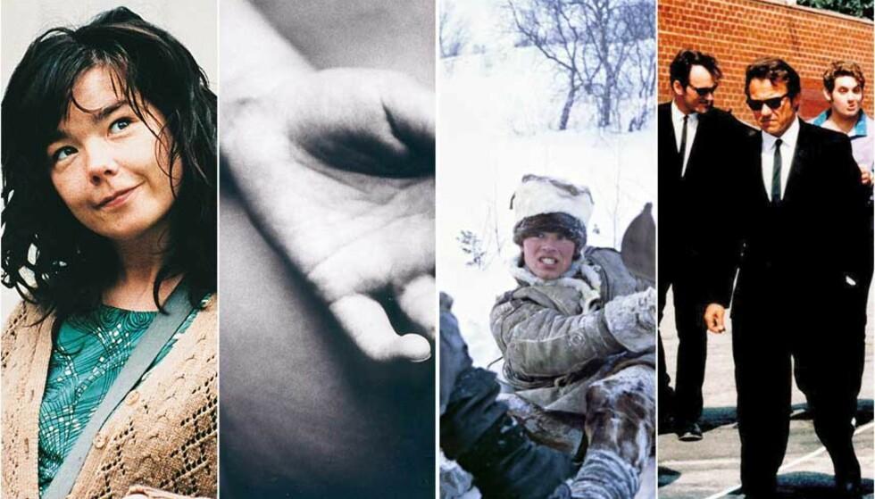 PÅ LISTA?: Er Lars Von Triers «Dancer In The Dark», Margreth Olins «Kroppen Min», Nils Gaups «Veiviseren» eller Quentin Tarantinos «De Hensynsløse» å finne på lista? Fra og med i morgen kan også du være med på å nominere kandidater til en egen folkeliste.