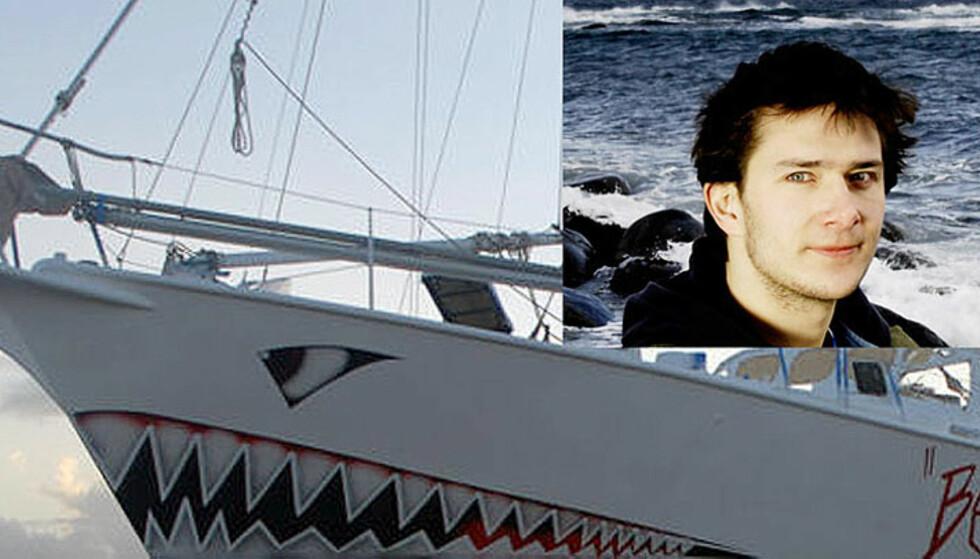 TRØBBEL:  Nye «Berserk» på 48 fot ligger til kai i Halifax mens skipper Jarle Andhøy (innfelt)venter på en forklaring på hvorfor to av mannskapet ble arrestert for en uke siden. Foto: www.wildvikings.com/Agnete Brun.