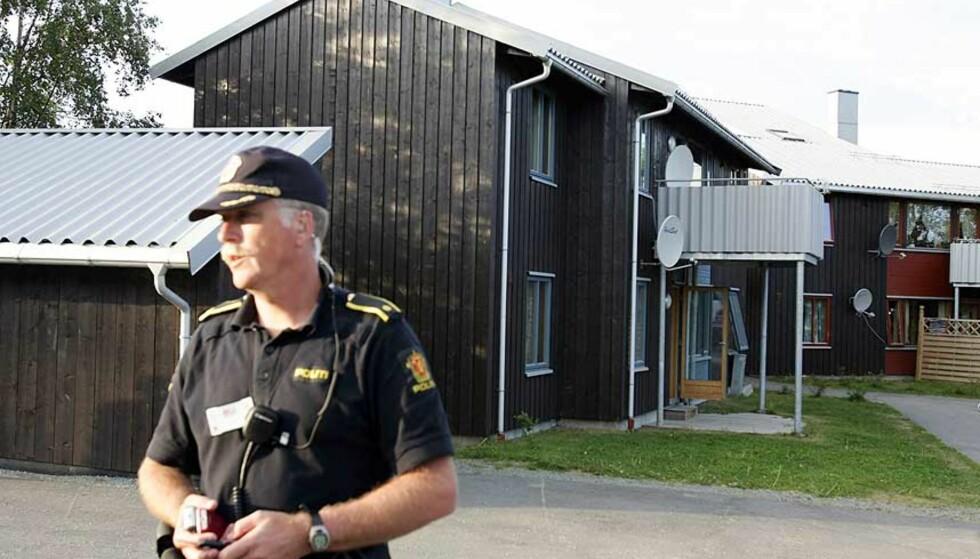 HER BLE 13-ÅRINGEN FUNNET: 13-åringen ble funnet drept i dette huset på Byåsen i Trondheim. Foto: Gorm Kallestad/Scanpix