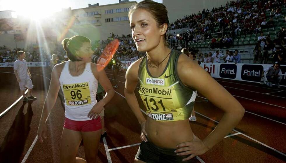 PERSET: Med tiden 13, 13 perset Christina Vukicevic på 100 meter hekk i U23-VM i dag. Foto: Jon Eeg/Scanpix