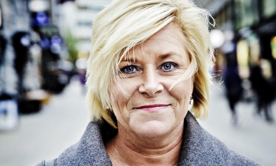 <b>MER POPULÆR:</b> – Vi gjør det alltid godt når vi er tydelige og leverer på det vi har lovet, sier Siv Jensen. Foto: Nina Hansen / Dagbladet