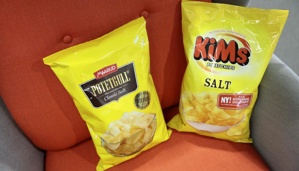 """RETTSSAK: Maarud har produsert """"potetgull"""" siden 1936 og har tatt patent på merkenavnet. Orkla-eide Kims gikk rettens vei for å få bruke potetgullnavnet."""
