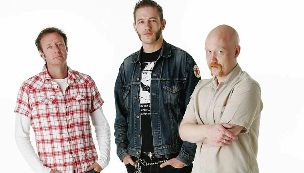 FIKK NYE ANNONSØRER: Men kristen-aktivistene gir ikke opp. På bildet er programskaperne (fra venstre) Øystein Karlsen, Kristopher Schau og Morten Ståle Nilsen. Foto: TV 2