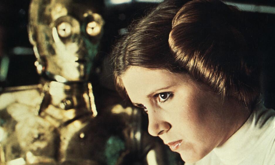 UFORANDRET: Disney bekrefter at Carrie Fishers rolle som prinsesse Leia vil stå helt uforandret i den neste «Star Wars»-filmen. Foto: NTB Scanpix.