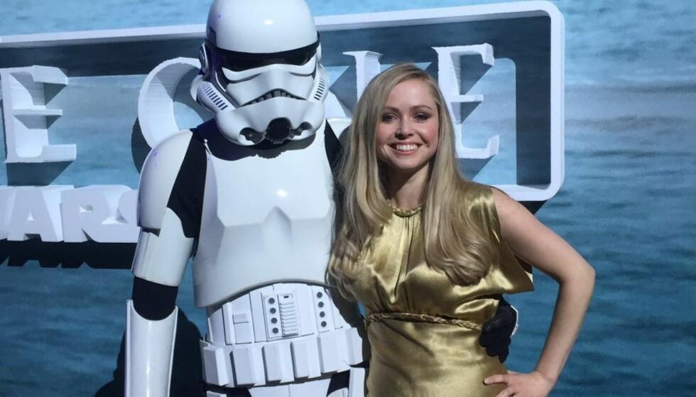 PRINSESSETAKTER: Her er hun, Star Wars' norske prinsesse, Ingvild Deila. Foto: Privat