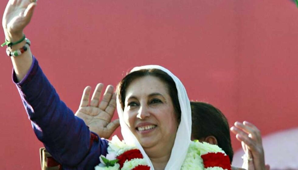 DEN SISTE TALEN: Valgkamparrangementet i Rawalpindi i dag ble det siste Benazir Bhutto gjorde. Foto: MIAN KHURSHEED / REUTERS