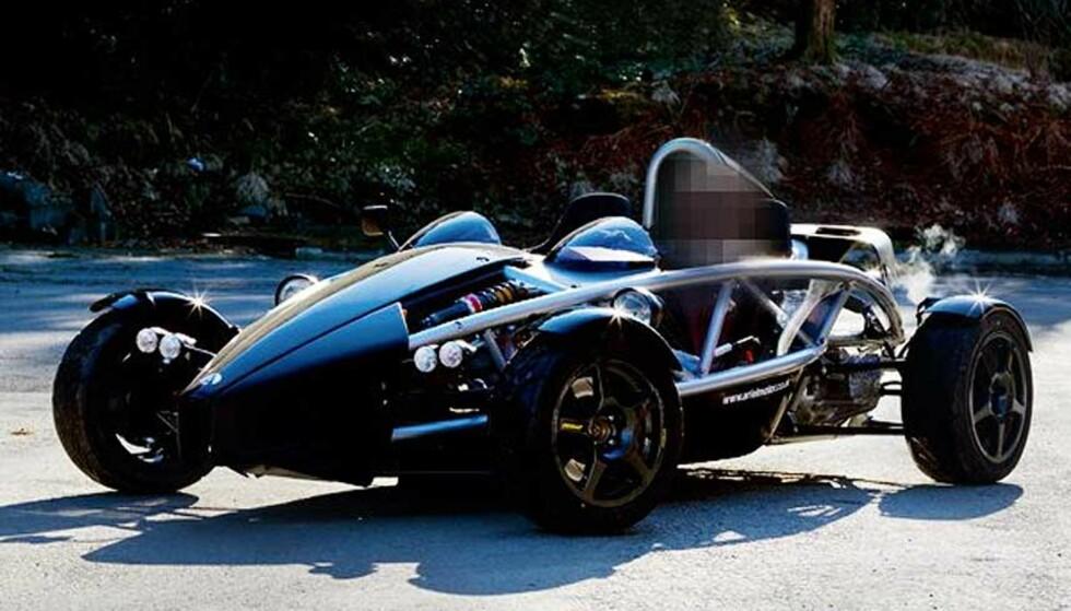 SPESIELL BIL 1: Dette bildet ble publisert av flere medier etter at den 55 år gamle mannen ble pågrepet i Lommemannen-saken. Mannens bil er den ene av to biler av denne typen i Norge.