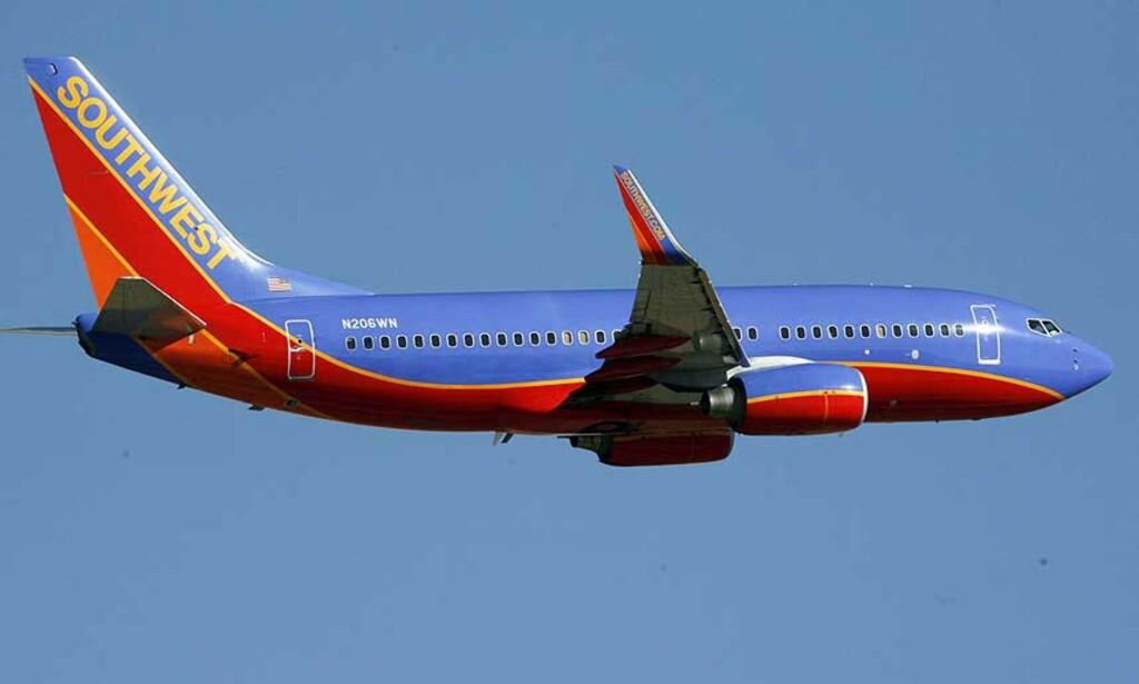 SOUTHWEST AIRLINES: 16-åring skal ha planlagt å kapre Southwest Airlines\' rute fra Los Angeles til Nashville. Arkivfoto: AP/Scanpix