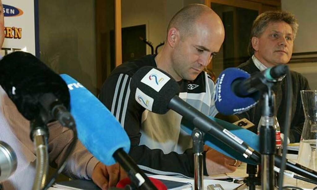 MÅTTE GÅ: Dagen etter seieren mot Valencia ble Knut Tørum fjernet som Rosenborg-trener. Snart kan 36-åringen være tilbake i en annen tippeligaklubb.