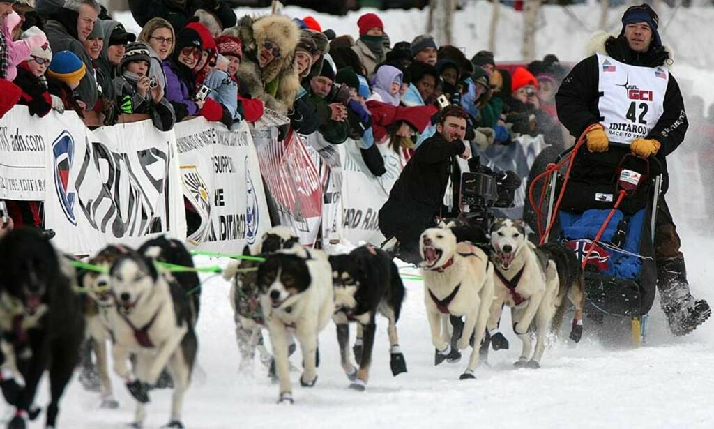 FALLER I SAMMENDRAGET: Før den siste etappen er Kjetil Backen nummer ni i Iditarod, 8 timer og 37 minutter etter tetduoen. Foto: AP