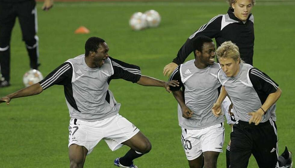 LITT I BAKGRUNNEN: Jo Sondre Aas (bak) har til nå vært litt i skyggen av spillere som Yssouf Koné (f.v. foran), Abdou Razack Traore og Per Ciljan Skjelbred. Men denne sesongen kan han få sitt gjennombrudd. Foto: PAUL WHITE/AP/SCANPIX