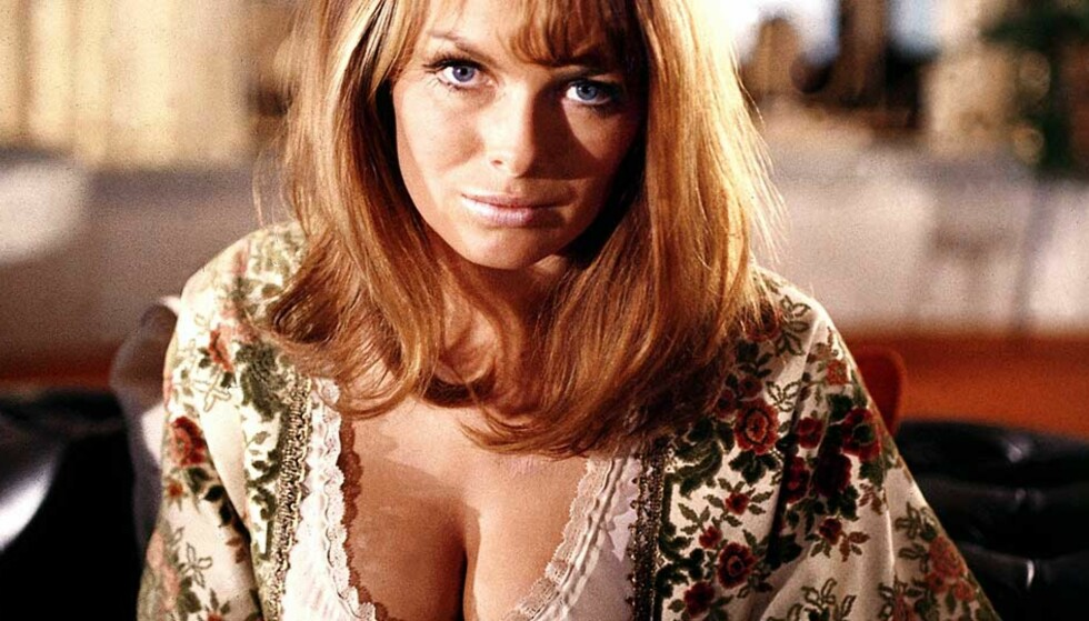 BOND-PIKE: Julie Ege var Norges eneste Bond-pike. I «On Her Majesty\'s Secret Service» spilte hun «The scandinavian girl». Foto: FRA FILMEN