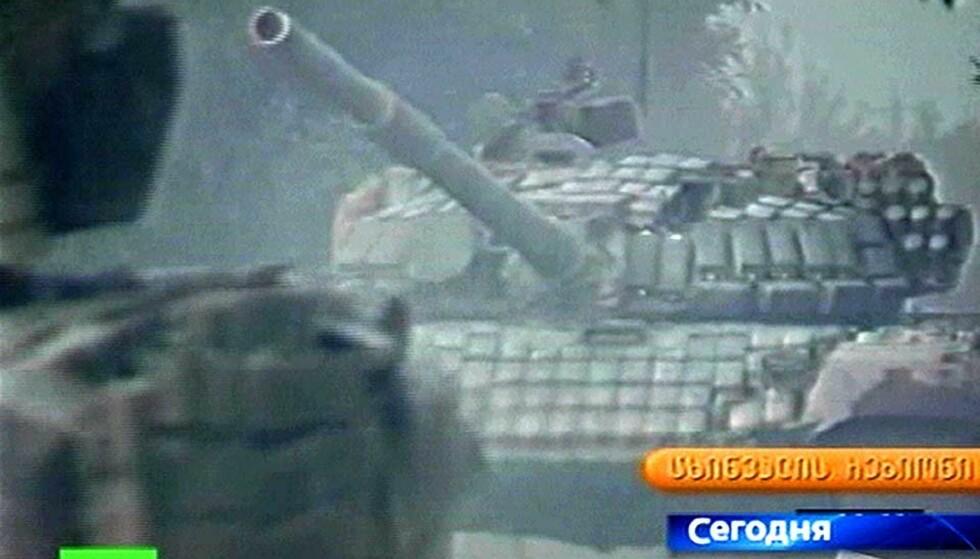 KAMPER I HOVEDSTADEN: Georgiske styrker har tatt seg inn til sentrum av hovedstaden Tskhinvali der kampene nå pågår for fullt.
