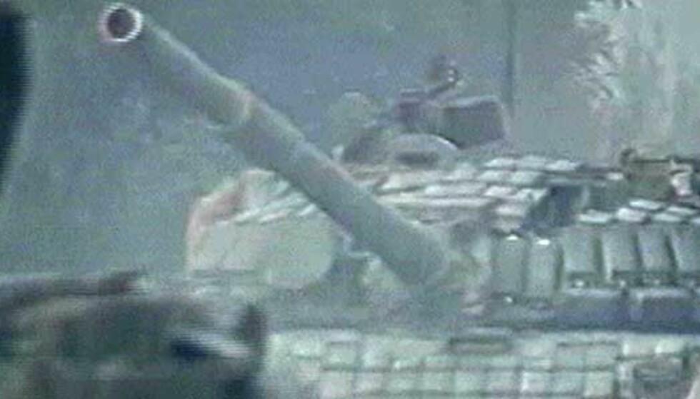 Sykehus truffet av granater