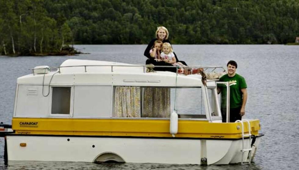 Norges kuleste campingvogn er en båt