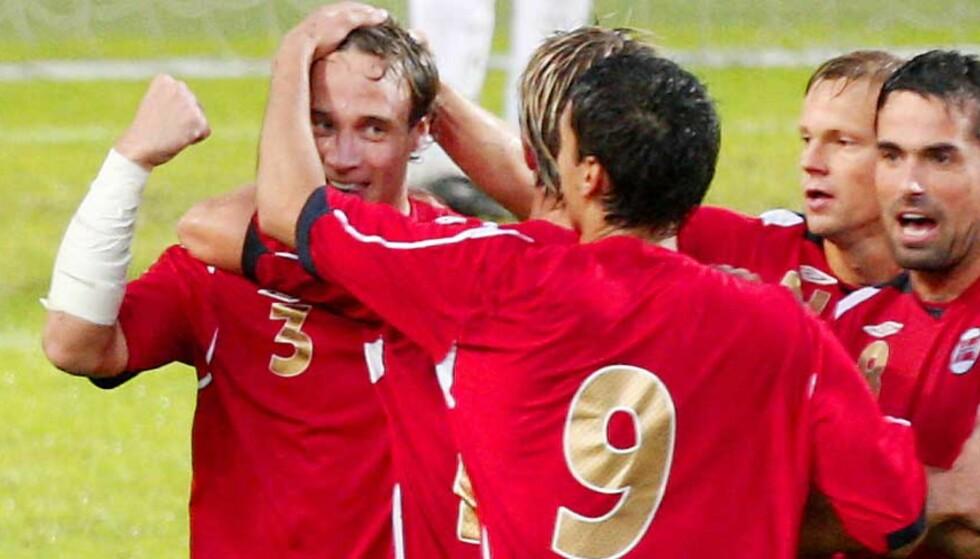 SCORET: Tore Reginiussen scoret sitt første landslagsmål mot Irland i går. Nå vil vekk fra Tromsø etter sesongen. Foto: Sara Johannessen, Scanpix