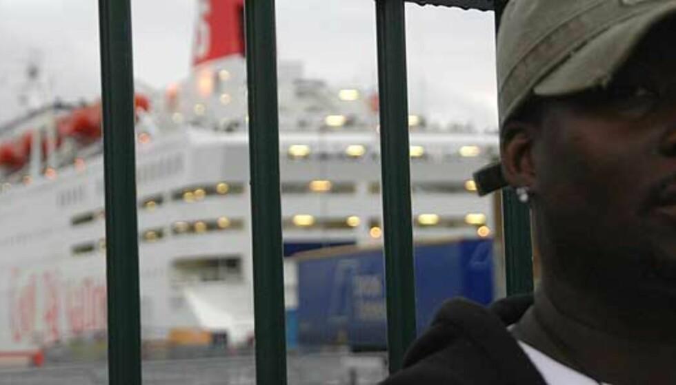 Ousainou (36) ble nektet å reise med Stena Line