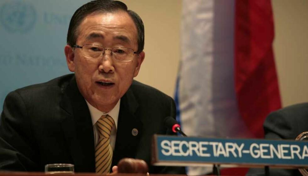 STORKRIG: FNs generalsekretær Ban Ki-moon frykter at konflikten i Øst-Kongo kan eskalere til regional storkrig. Foto: NICHOLAS ROBERTS/SCANPIX