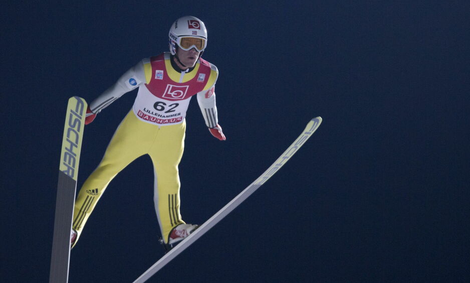 SUR FJERDEPLASS: Daniel-André Tande  ble nummer fire. Foto: Geir Olsen / NTB scanpix