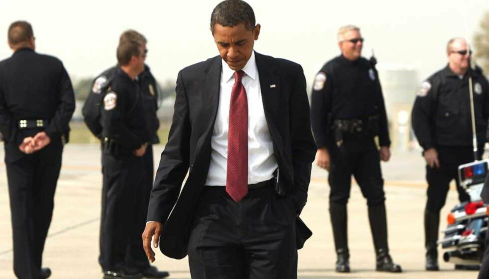 KJØPER TV-KVELDEN:  Det knytter seg stor spenning til hva Obama vil bruke den 30 minutter lange TV-tiden han har kjøpt seg i kveld. Foto: Scanpix