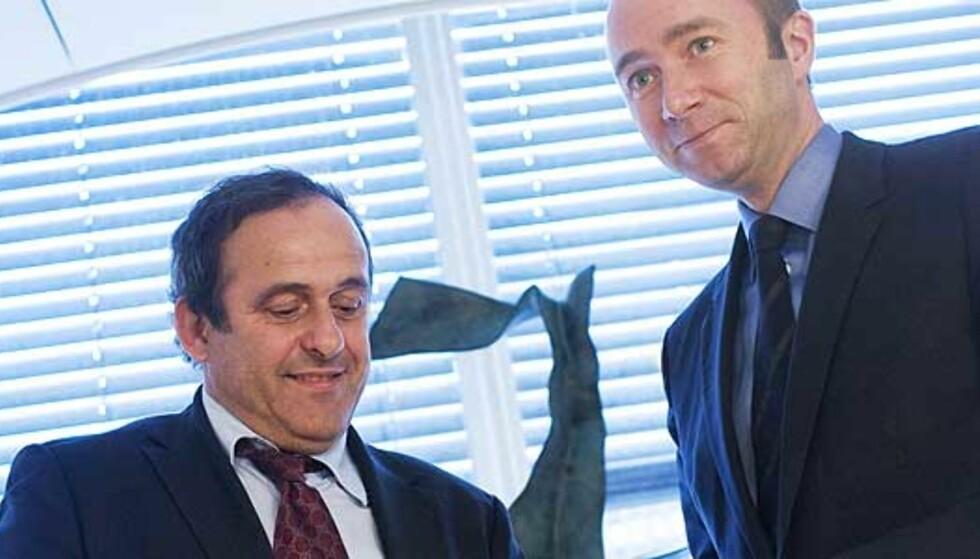 Giske diskuterte EM i Norge med Platini